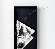 Nina Annabelle Märkl | Space 9 | Ink on folded paper, cutouts, polished steel | 100 x 50 x 6 cm | 2017
