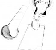 Nina Annabelle Märkl | Desideranten, Desiderate 6 | Tusche und Bleistift auf Papier | 35,5 x 28 cm | 2018