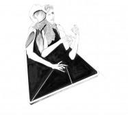 Nina Annabelle Märkl | Desideranten, Desiderate 8 | Tusche und Bleistift auf Papier | 35,5 x 28 cm | 2018