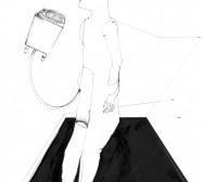 Nina Annabelle Märkl | Idol 1 | Tusche und Bleistift auf Papier | 35,5 x 28 cm | 2018