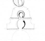 Nina Annabelle Märkl | Sakrale Auslösungen 1 | Tusche und Bleistift auf Papier | 29,7 x 21 cm | 2017
