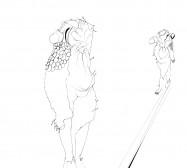 Nina Annabelle Märkl | Skulpturale Expansionen 2 | Tusche und Bleistift auf Papier | 35,5 x 28 cm | 2018