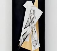 Nina Annabelle Märkl | Space 8 | Tusche auf gefaltetem Papier, Cutouts, Holz, Spiegelmetall, Plexiglas | 60 x 30 x 7 cm | 2017