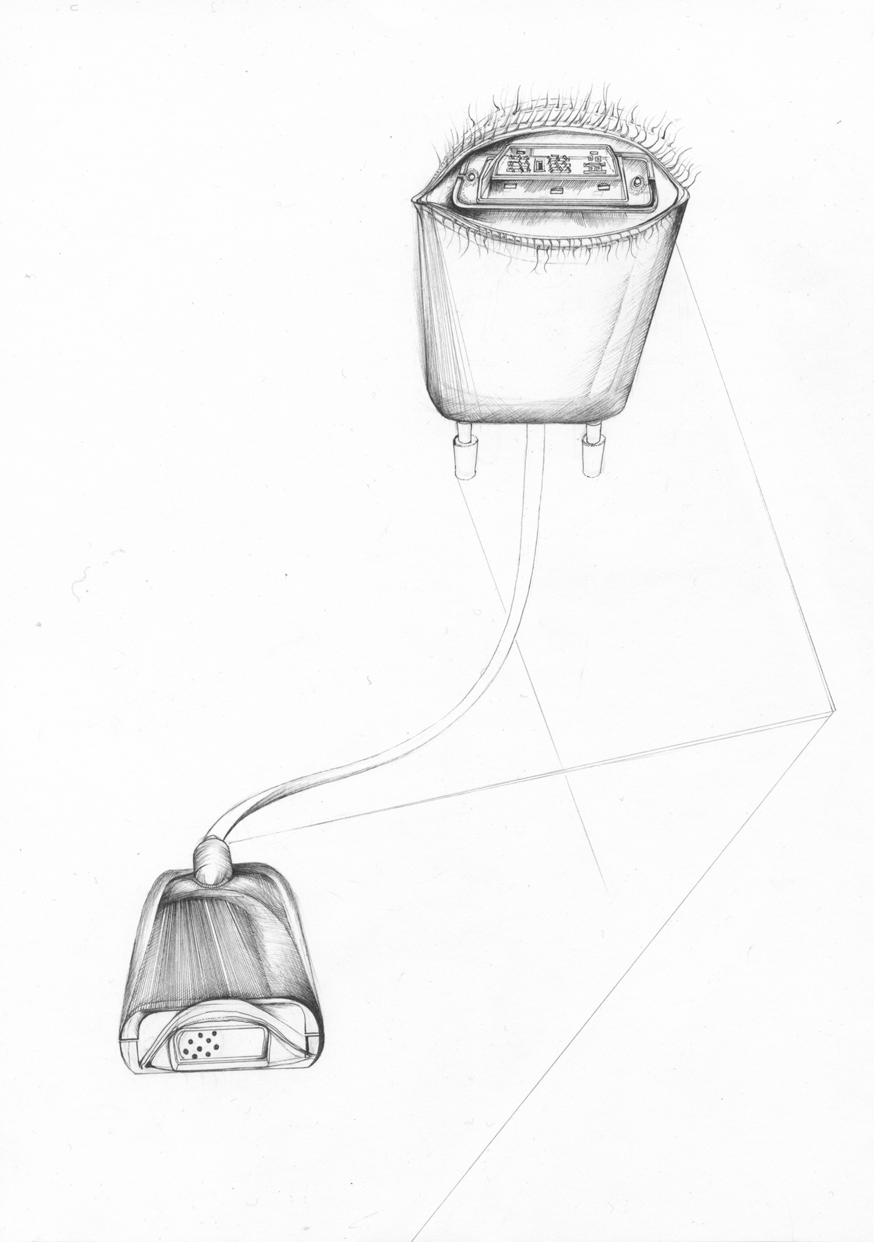 Nina Annabelle Märkl | Tools 1 | Tusche und Bleistift auf Papier | 29,7 x 21 cm | 2016
