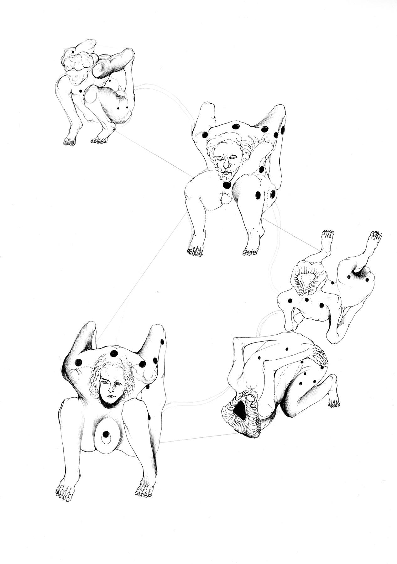Nina Annabelle Märkl | Tools 4 | Tusche und Bleistift auf Papier | 29,7 x 21 cm | 2016