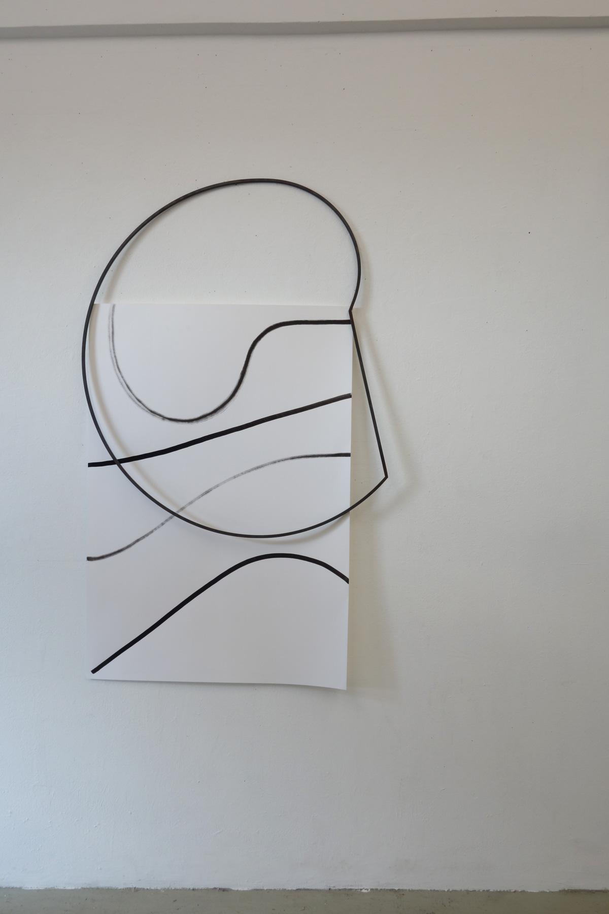 Nina Annabelle Märkl | Frames | Ink and steel drawing | 120 x 80 x 5 cm | 2018