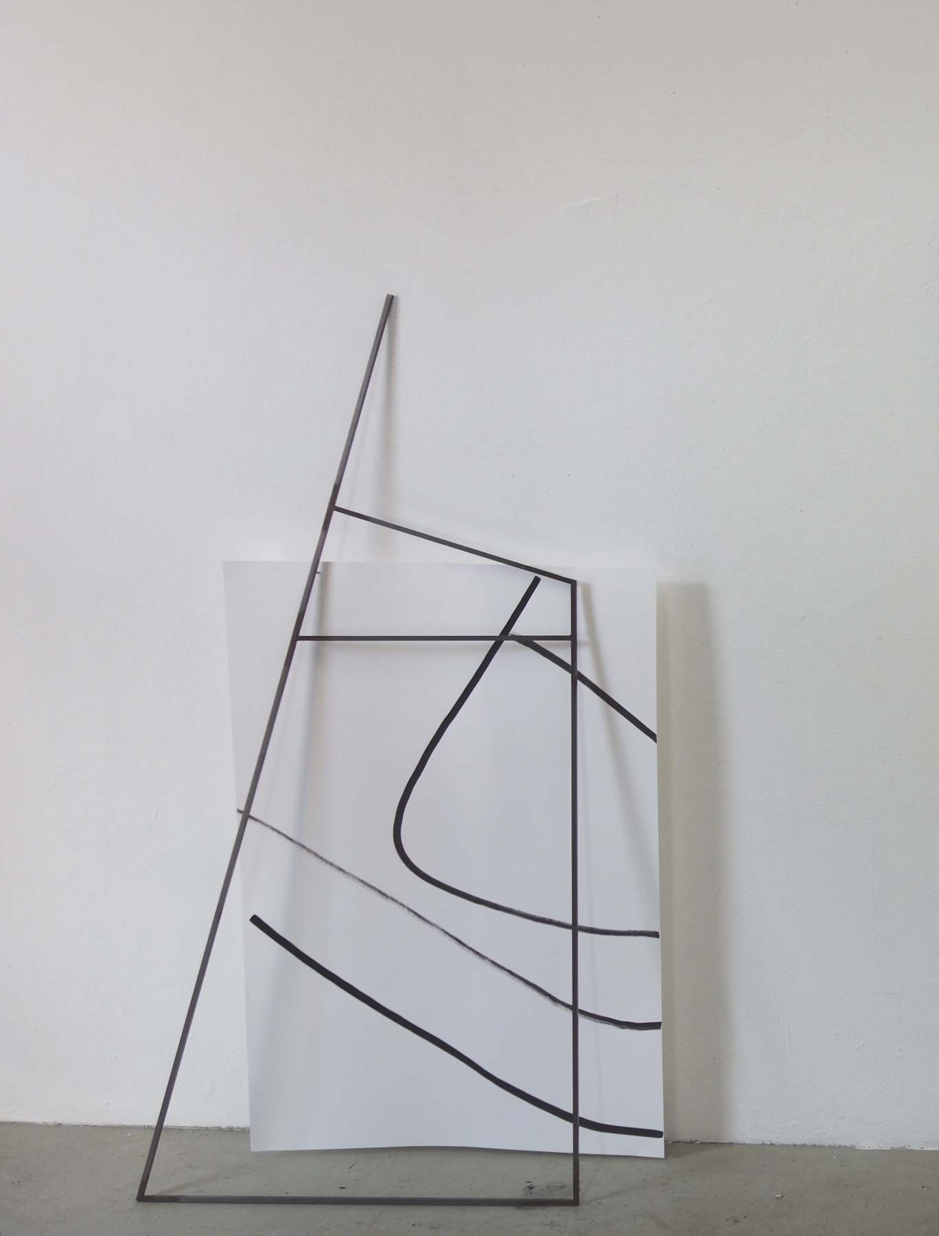 Nina Annabelle Märkl | Frames | Ink and steel drawing | 150 x 80 x 5 cm | 2018