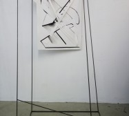 Nina Annabelle Märkl | Frames | Ink and steel drawing | 210 x 120 x 80 cm | 2018