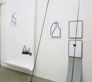 Nina Annabelle Märkl | Frames | Ink and steel drawings | installation | open studios | 2018