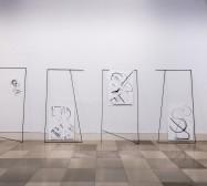 Nina Annabelle Märkl | Frames | Installationsansicht | Galerie der Künstler München | 2018 | Foto: Achim Schäfer