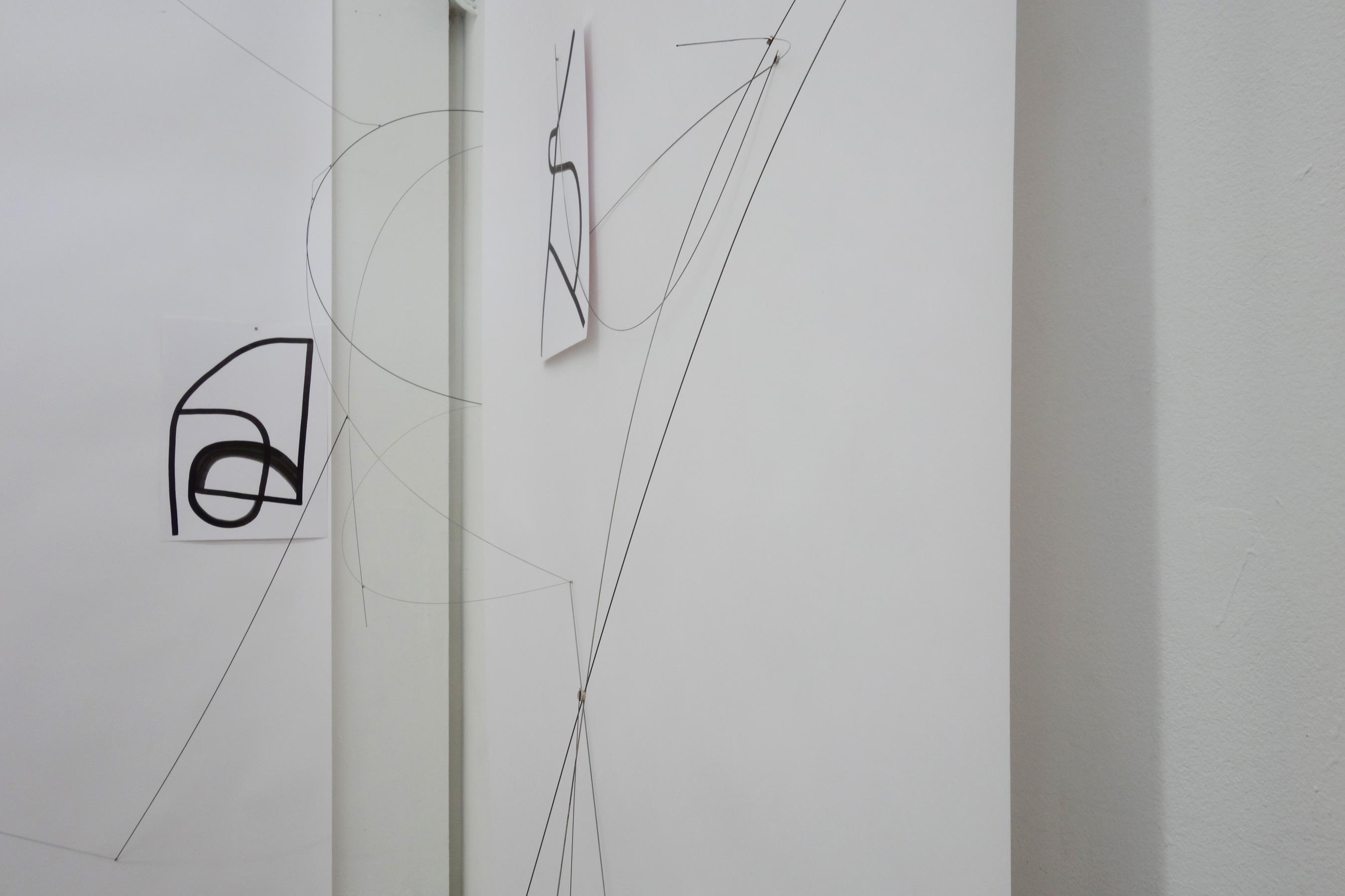 Nina Annabelle Märkl | Ink, steel and magnet drawings | installation | open studios | 2018