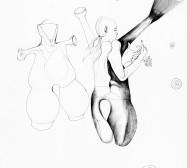 Nina Annabelle Märkl | Anwesende Geister | Tusche auf Papier | 35,5 x 28 cm | 2018