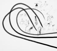 Nina Annabelle Märkl | Typologien: Hands| Tusche und Bleistift auf Papier | 70 x 50 cm | 2018 | Foto: Walter Bayer