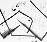 Nina Annabelle Märkl | Typologien: Body 1| Tusche und Bleistift auf Papier | 70 x 50 cm | 2018 | Foto: Walter Bayer
