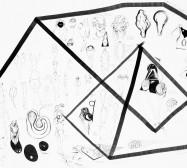Nina Annabelle Märkl | Typologien: Body 2| Tusche und Bleistift auf Papier | 70 x 50 cm | 2018 | Foto: Walter Bayer