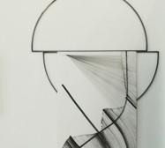 Nina Annabelle Märkl | Frames | ink and steel | 150 x 90 x 2 cm | 2018