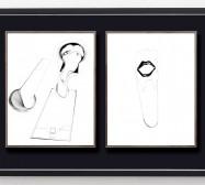 Desideranten, Desiderate 6 und Idol 4 | 35,5 x 28 cm | Tusche auf Papier | 2018/2019