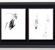 Desideranten, Desiderate 9 und 7 | 35,5 x 28 cm | Tusche auf Papier | 2018/2019