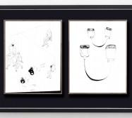 Desideranten, Desiderate 2 und Tools und Prothesen 1 | 35,5 x 28 cm | Tusche auf Papier | 2018/2019