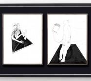 Desideranten, Desiderate 8 und Idol 1 | 35,5 x 28 cm | Tusche auf Papier | 2018/2019