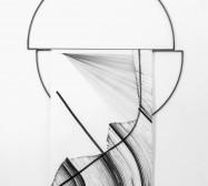 Frames | 85 x 150 x 5 cm | Tusche auf Papier, Stahl, Magnete | 2018 | Foto: Walter Bayer