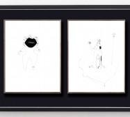 Idol 5 und Desideranten, Desiderate 3 | 35,5 x 28 cm | Tusche auf Papier | 2018/2019