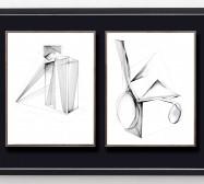 Shifting Perceptions_muc 5 und 8 | 35,5 x 28 cm | Tusche auf Papier | 2016/2019