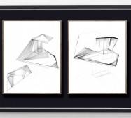 Shifting Perceptions_muc 9 und 10 | 35,5 x 28 cm | Tusche auf Papier | 2017/2019