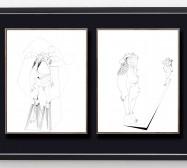Skulpturale Expansionen 1 und 2 | 35,5 x 28 cm | Tusche auf Papier | 2018/2019