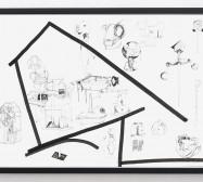 Typologie_Gehäuse | 50 x 70 cm | Tusche und Bleistift auf Papier | 2019 | Foto: Walter Bayer