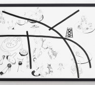 Typologie_Inseln | 50 x 70 cm | Tusche und Bleistift auf Papier | 2019 | Foto: Walter Bayer