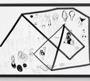 Typologie_Körper 1 | 50 x 70 cm | Tusche und Bleistift auf Papier | 2019 | Foto: Walter Bayer