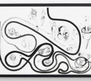 Typologie_Tools und Applikationen | 50 x 70 cm | Tusche auf Papier | 2019 | Foto: Walter Bayer