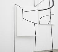 Off-Ornament Konstellation 1 | 250 x 170 x 20 cm | Tusche auf Papier, Stahl, Magnete | 2019