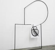 Off-Ornament Konstellation 4 | 150 x 100 x 20 cm | Tusche auf Papier, Stahl, Magnete | 2019