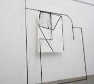 Off-Ornament Konstellation 5 | 250 x 160 x 20 cm | Tusche auf Papier, Stahl, Magnete | 2019