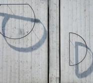 FRAMES | Stahlrelief auf Beton | 30 Meter Wand – Artothek Dachau | 2019