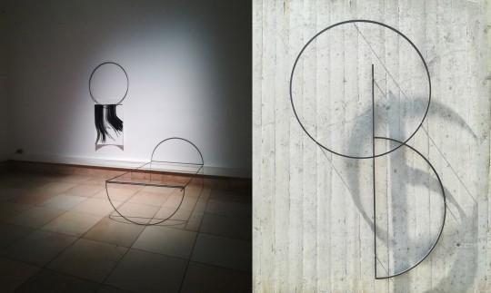 links: Installationsansicht THE BIG SLEEP, Haus der Kunst| rechts: Detail FRAMES, Artothek Dachau im Rahmen der Ausstellung RAUS | 2019