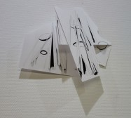 Folded Matter | Tusche auf Papier, Cutouts | 30 x 30 x 7 cm