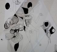 Folded Matter | Tusche auf Papier, Cutouts |Detail