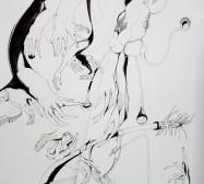 Folded Matter | Tusche auf Papier, Cutouts |40 x 30 x 5 cm
