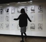 Terzett | Tusche auf Papier, Cutouts | 200 x 1200 x 70 cm