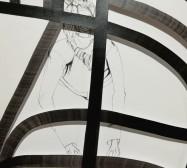 Terzett | Tusche auf Papier, Cutouts | 41 x 30 cm