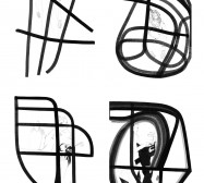 Terzett | Tusche auf Papier, Cutouts | Details