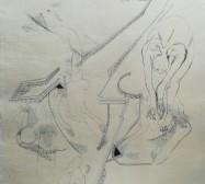 The other hand | Becken 1| Tusche auf Papier | 41 x 30 cm