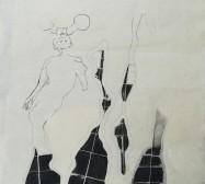 The other hand | Felder 1| Tusche auf Papier | 41 x 30 cm