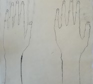The other hand | Hands 3 | Tusche auf Papier | 41 x 30 cm
