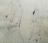 The other hand | Hüllen 1| Tusche auf Papier | 41 x 30 cm