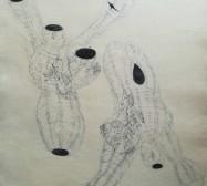 The other hand | Hüllen 4| Tusche auf Papier | 41 x 30 cm