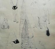 The other hand | Wald 2| Tusche auf Papier | 41 x 30 cm